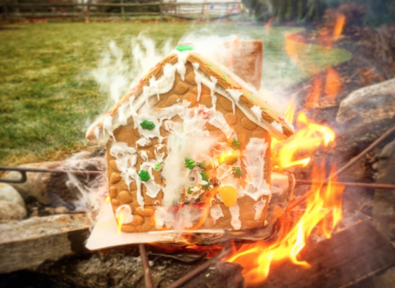Fire Damage Restoration Services in a Gingerbread Houses - J&R Contracting, Toledo, Ohio